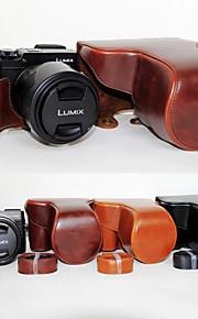 dengpin pu læder kamerataske taske dække med skulderrem til Panasonic DMC-GX8 med 14-140 (assorterede farver)