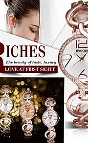 Dames Modieus horloge Kwarts Waterbestendig Legering Band Polshorloge / Glitter Goud / Goud Rose