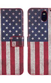 HTC 욕망 (610)에 대한 미국의 플래그 가죽 케이스 커버 지갑 카드 슬롯 케이스