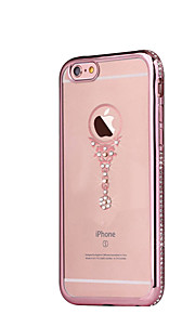 Luxury Rhinestone Case For iPhone 6S plus 5.5 Diamond Crystal Sparkling Gold Bling Electroplating Drill Phone Back Cover