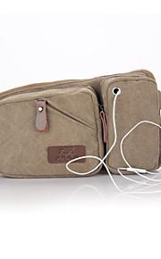 New Men's Canvas Pockets With Headphone Jack Fashion Sports Man Bag