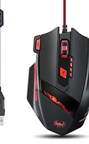 Zelotes T90 9200dpi 8 knapper optisk usb kablet professionel gaming mus mus til bærbare pc'er