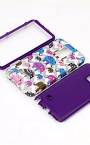 aantekening 4 telefoon 3 in 1 cartoon olifant TPU siliconen omhulsel anti-klop dekking voor Samsung Galaxy Note 4 siliconen case