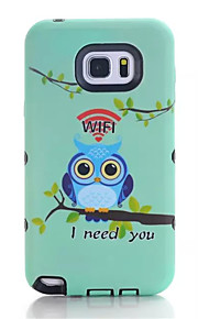Fashion Painted Pattern Soft Silicone TPU & Plastic For Samsung Galaxy Note 5 Case