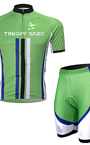 TINKOFF SAXO® Cycling Jersey + Tights Short Sleeves 3D Slim Cut Curve Breathable Cycling Suit
