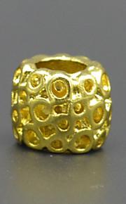 DIY beaded armbånd halskæde tilbehør vakuum plating 18 karat guld mode honeycomb lampwork perler hac0040