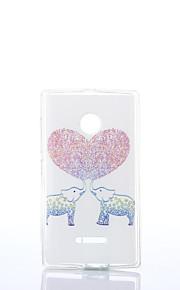 amor elefante patrón de TPU + IMD caso suave para el Nokia Lumia N640 / n535 / N435