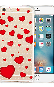 For iPhone 6 etui / iPhone 6 Plus etui Stødsikker / Transparent / Mønster Etui Bagcover Etui Hjerte Blødt SilikoneiPhone 6s Plus/6 Plus /