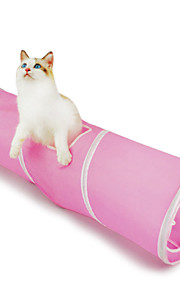 Cat Pet Toys Tubes & Tunnel Foldable Blue / Pink Textile