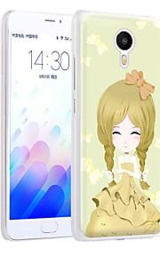 ximalong la cáscara del teléfono elegante de la chica relieves pintados aplican para mei zu nota m3