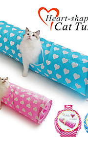Cat Toy Pet Toys Tubes & Tunnel Foldable Textile Blue / Pink