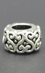 DIY beaded armbånd halskæde sølv plating tilbehør miskreditere hjerte spænde lampwork perler dobbelte tendenser hac0062