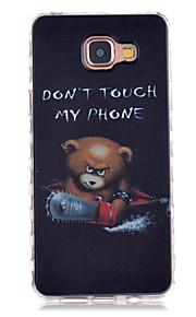 Chainsaw Bear Pattern Slip TPU Phone Case For Samsung Galaxy A3(2016)/A5(2016)