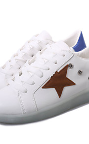 Zapatos de mujer-Tacón Plano-Punta Redonda-Sneakers a la Moda-Exterior / Casual / Deporte-Semicuero-Azul