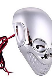 Chromschädel motorrad Auto blinkende LED dekorative ligh
