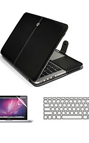 "3  in 1 PU Leather Laptop Case Bag with Screen Protector and Keyboard Cover for Macbook  Pro13""/15"""