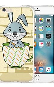 konijn in de beker zachte transparante siliconen achterkant van de behuizing voor de iPhone 6 / 6s (diverse kleuren)