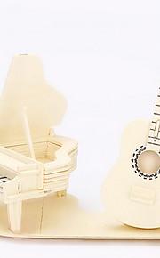 drewniane gitara pianino 3d puzzle zabawki do majsterkowania