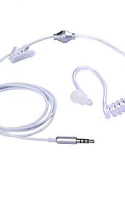 stereo mono 3,5 milímetros fone de ouvido anti radiação mola de ar headphone duto gancho para iphone Samsung todos os telefones&mp3