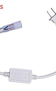 10pcs hry® plugg for 5050 fleksibel SMD LED stripe lys plug 220v-240v