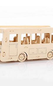 drewnie samochód bus 3d puzzli diy Zabawki