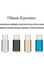 colorido de aluminio USB 3.1 Tipo-c adaptador de carga rápida sincronización de datos para Xiaomi 4c cargador / umi pro hierro / meizu Pro