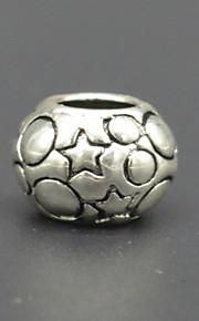 DIY beaded armbånd halskæde tilbehør plating tyk sølv + udtværing makroporøse perle hac0051 mode stjerne