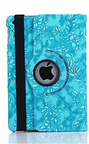 360 graders druva spannmål PU läder luckan fall för iPad Mini 1/2/3 (blandade färger)