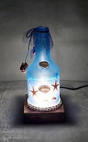 creatieve wijnfles lamp slaapkamer bedlampje verlichting lampen van de europese romantische persoonlijkheid gift (willekeurige kleur)