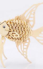 modelo de madeira angelfish 3d puzzles DIY brinquedos