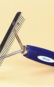 Suitable For Tibetan Mastiff Big White Bear Alaska Open Knot Pet Dogs Rubber Handle Steel Rake Comb