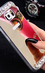 cassa dello specchio diamante di lusso per il cristallo strass g9200 mano Samsung Galaxy S6 copertura del telaio TPU S7 / s7e / s6edge +