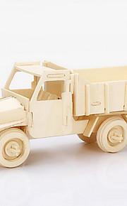 despejo caminhão modelo de madeira 3d puzzles DIY brinquedos