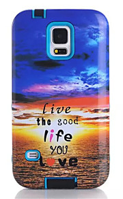 Soft TPU Silicone Graphic Phone Case For Samsung Galaxy S5 The Sunset Printed Plastic Protective Cover