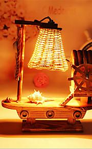 creatieve houten windmolen licht zeilen lamp decoratie bureaulamp slaapkamer lamp cadeau voor kind