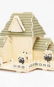 madeira cabana felicidade 3d puzzles DIY brinquedos