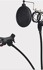 shock mount mikrofonstativ holder med integreret pop-filter og mobiltelefon holder sort kit