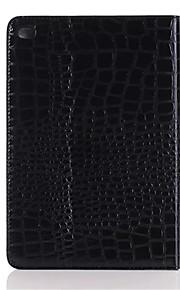 mode hög kvalitet tunna krokodil läderfodral för iPad Mini 4 Smart Cover med stativ alligator mönstrar fallet