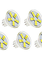 4W G4 LED-spotpærer MR11 15 SMD 5730 350lm lm Varm hvit / Kjølig hvit Dekorativ DC 12 V 5 stk.