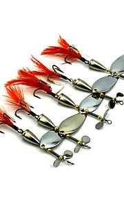 Factory Spoon Fishing Lures 95mm 13.6g Metal Spoon Spinner Baits Random Colors