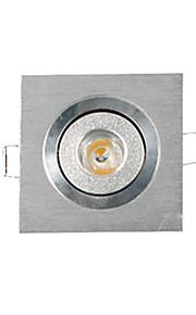 3W Innfelt lampe / Taklys / Panellys Innfelt retropassform 1 Høyeffekts-LED 200-300 lm Varm hvit Dimbar AC 220-240 V