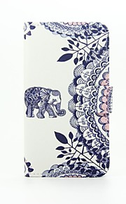 Baby Elephant Patter PU Leather Full Body Case with Stand for Wiko Lenny2