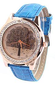 simulações cinto de moda pu das mulheres mostram relógio de quartzo (cores sortidas)
