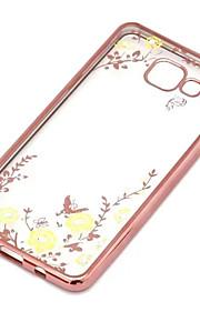 geheime tuin bloem vlinder diamanten zachte TPU Cover voor Samsung Galaxy A5 / A7 / A8 / A9