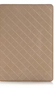 unik design lyx rutmönster pu läderfodral luckan till Apple iPad luft 2 tablett med kortplats