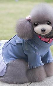 Cães Vestidos Azul Verão / Primavera/Outono Clássico / Jeans Casamento / Natal / S. Valentim / Fashion-Lovoyager