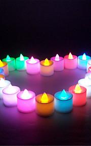 21pcs / satt mini flere farger ført elektronisk stearinlys lampe for bryllupsfesten juledekorasjon