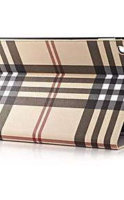 hq ultratunna lyx rutnät läderfodral för ipad luft 2 Smart Cover Apple ipad luft två 9,7 tums tablett