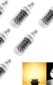 6 stk. YouOKLight® E14 / E26/E27 4W 56 SMD 4014 280 lm Varm hvit / Kjølig hvit T Dekorativ LED-kornpærer AC 220-240 / AC 110-130 V