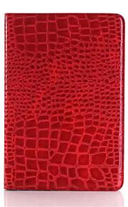 mode hög kvalitet tunna krokodil läderfodral för iPad Mini 3/2/1 Smart Cover med stativ alligator mönstrar fallet